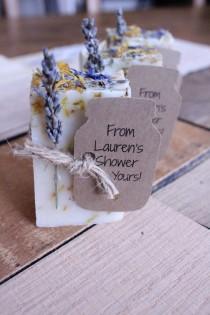 wedding photo - Bridal Shower Favors,wedding Favors,wedding Favors Rustic,rustic Wedding Favor,party Favor Lavender Calendula Guest Soap  2oz
