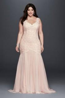 wedding photo - Plus Size Beaded Trumpet Wedding Dress Style 4XL9SWG723