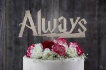 wedding photo - Harry Potter Always Cake Topper, After All This Time Always Cake Topper, Harry Potter Quote, Custom Personalized Wedding Cake Toppers