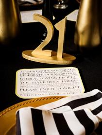 wedding photo - Gold Great Gatsby Table Numbers for Weddings & Events, Vintage Wedding Decor for Wedding Table Numbers, Art Deco Wedding (Item - NUM110)