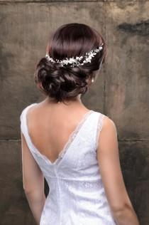 wedding photo - Bridal Hairpiece Wedding Hairpiece Bridal Headpiece Wedding Headpiece Wedding Hair Accessories Bridal Headband Bridal Hair Piece Flower Hair