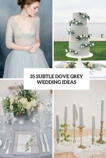 wedding photo - 35 Subtle Dove Grey Wedding Ideas - Weddingomania