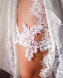 wedding photo - Wedding Garter Bridal Garter Lace Garter Belt - Rustic Wedding Boho Wedding Vintage Inspired Lace Garter Powder Blue Ice Blue Something Blue