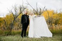 wedding photo - Ethereal Rock 'N' Roll Backyard Wedding in Montana