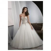 wedding photo - Elegant Tulle Sweetheart Neckline Natural Waistline Ball Gown Wedding Dress With Embroidery - overpinks.com