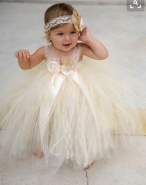 wedding photo - Tutu dress, tutu, flower girl dress, flower girl dresses, baby birthday dress, birthday dress, baby dress, champagne dress