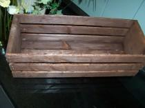 wedding photo - ON SALE Wood Crates , table centerpieces ,18in , Rustic wedding , wedding reception , flower planter box , vases , country wedding ,wedding