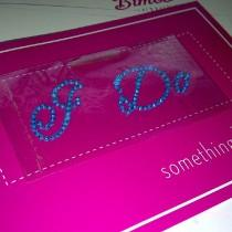 wedding photo - I Do Diamante / Rhinestone Shoe Applique Sticker - Something Blue Wedding Crystal