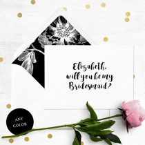 wedding photo -  Will you be my Bridesmaid Card-Personalized Bridesmaid Proposal-Maid Of Honor, Flower Girl, Proposal-Unique Calligraphy Bridesmaid Card