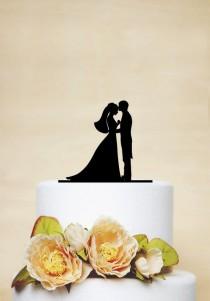 wedding photo - Couple Wedding Cake Topper,Kissing Cake Topper,Personalized Cake Topper,Custom Wedding Topper,Bridal Cake Topper-P031