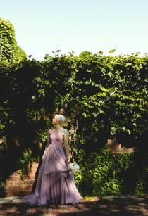 wedding photo - Perfect lavender dress feels at this garden wedding in Nebraska