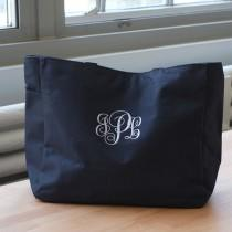 wedding photo - Monogrammed Tote Bag, Monogrammed Weekend Bag