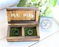 wedding photo - Wedding Ring Box - Wedding Ring Box Rustic - Ring Bearer Box - Handmade Ring Box - Personalized Ring Bearer Box - Double Ring Box
