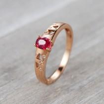 wedding photo - Ruby Diamond Ring,Ruby Engagement Ring,14K rose gold ring,Ruby wedding band,Ruby rose gold ring,Oval ruby diamond ring,ruby band,art deco