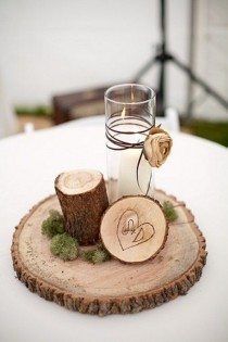 wedding photo - Inspiring Winter Wedding Centerpieces