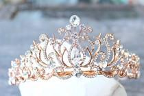 wedding photo - Bridal Tiara Crystal Rose Gold Tiara - CAROLINE, Swarovski Bridal Tiara Crystal Wedding Crown Rhinestone Tiara Wedding Tiara, Diamante Crown