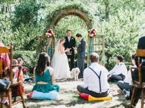 wedding photo - How to make a one-sided wedding party work (you have a crew and your partner doesn't!)