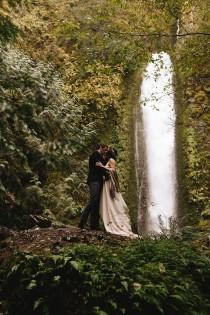 wedding photo - The Intimacy of Love: A Bohemian Waterfall Wedding Elopement