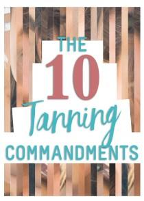 wedding photo - The 10 Tanning Commandments with Bahama Brown