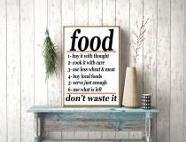 wedding photo - Instant download, Food Don't waste it Vintage Advertising Kitchen Print Decor Poster Cook It With Care Food Poster  US Food Administration