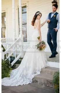 wedding photo - Martina Liana Low Back Wedding Dress With Beaded Lace Style 817