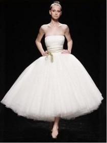 wedding photo - Strapless Ballerina Tulle Wedding Dress