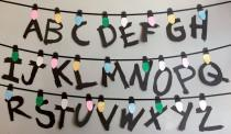 wedding photo - Channel the Upside Down with this Stranger Things garland