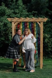 """wedding photo - A """"Love Wins""""-themed playful Oregon wedding (with pizza and toys!)"""