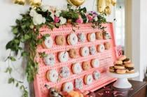 wedding photo - Tropical-Inspired Bridal Shower with a Donut Wall!