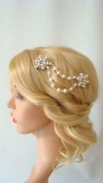 wedding photo - Pearl Hair Comb, Bridal Hair Comb, Pearl Hair Accessories, Pearl Headpiece, Pearl Hair Piece , Pearl Bridal Comb, Pearl Bridal Hair Comb