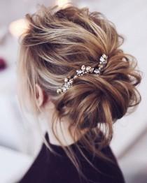 wedding photo - Beautiful Messy Bridal Hair Updos