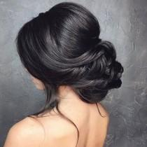 wedding photo - Low Bun Wedding Hair