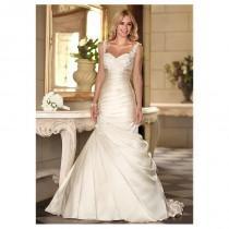wedding photo - Elegant Satin Sweetheart Neckline Raised Waistline Mermaid Wedding Dress - overpinks.com