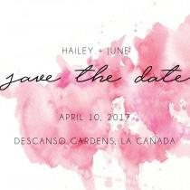 wedding photo - Watercolor Save The Date Card