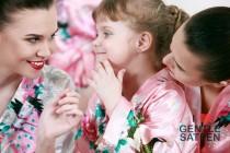 wedding photo - Flower Girl Robe, SPA PARTY ROBES for Girls, Birthday Spa Party, Children's Spa Robe, Kimono Wrap Style Robe
