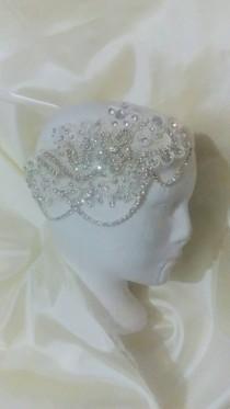wedding photo - Headpiece wedding, head Comb, tocado Novia, peineta boda, tocado cristales