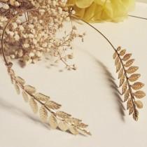 wedding photo - Grecian style tiara, Greek style headband, Bridal hair accessory, Bridesmaid tiara, bridal tiara, Greek style tiara, Gold headband,