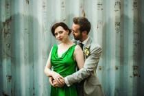 wedding photo - Green and Leafy Yet Urban Wedding