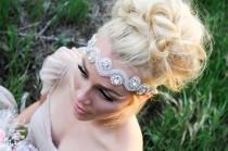 wedding photo - Crystal Headband, Bridal Headband, Wedding Hair Piece, Bridal Headpice, Headpiece, Wedding Headband, Beaded headband, Crystal Headpiece