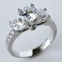 wedding photo - cz ring, cz wedding ring, cz engagement ring, cubic zirconia engagement ring, 3 stone ring, anniversary ring, size 5 6 7 8 9 10 -MC1077331AZ