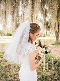 wedding photo - Bachelorette Veil - Bachelorette Party - Bachelorette Party Veil - Bachelorette Party Accessories - Veil - White Veil - Ivory Veil