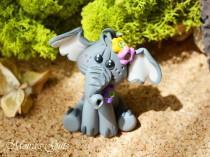 wedding photo - Custom elephant cake topper for Birthday, Baby shower, Wedding, Valentine's Day, Christening - Elephant keepsake - Original gifts idea