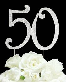 wedding photo - Number 30 40 50 Rhinestone Cake topper 40th Birthday Vow renewal 40th anniversary cake decoration Bling