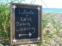 wedding photo - Beach Wedding Decor,Beach Home Decor,Beach Bridal Shower Decor,Wedding Photo Prop,Beach Theme Wedding,Chalkboards,Starfish Decor,Nautical
