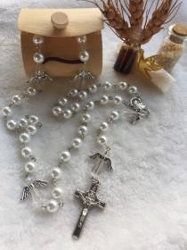wedding photo - Japan pearl rosary,baptism favors,communion favors,wedding gift,bridal shower gift,new born babies,baby shower
