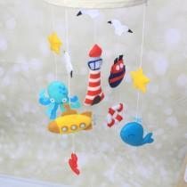 wedding photo - Nautical crib mobile - baby boy crib mobile - boy nursery decor