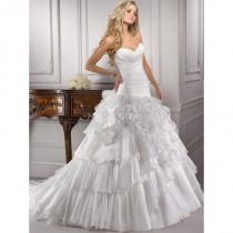 wedding photo - Crystal Organza Ballkleid mit asymmetrisch geraffte Mieder weiche luftige Lagen und Falten - Festliche Kleider