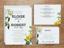wedding photo - Printable Wedding Invitation Template