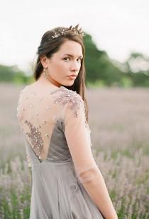 wedding photo - Elysium / Exclusive gown long sleeve wedding dress braun evening dress low back dress bridesmaid dress with sleeves lace wedding dress