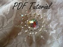 wedding photo - Taylor Crystal brooch Pearl brooch component Fabric flower Brooch bouquet component Hair pin applique Pattern Wedding decoration